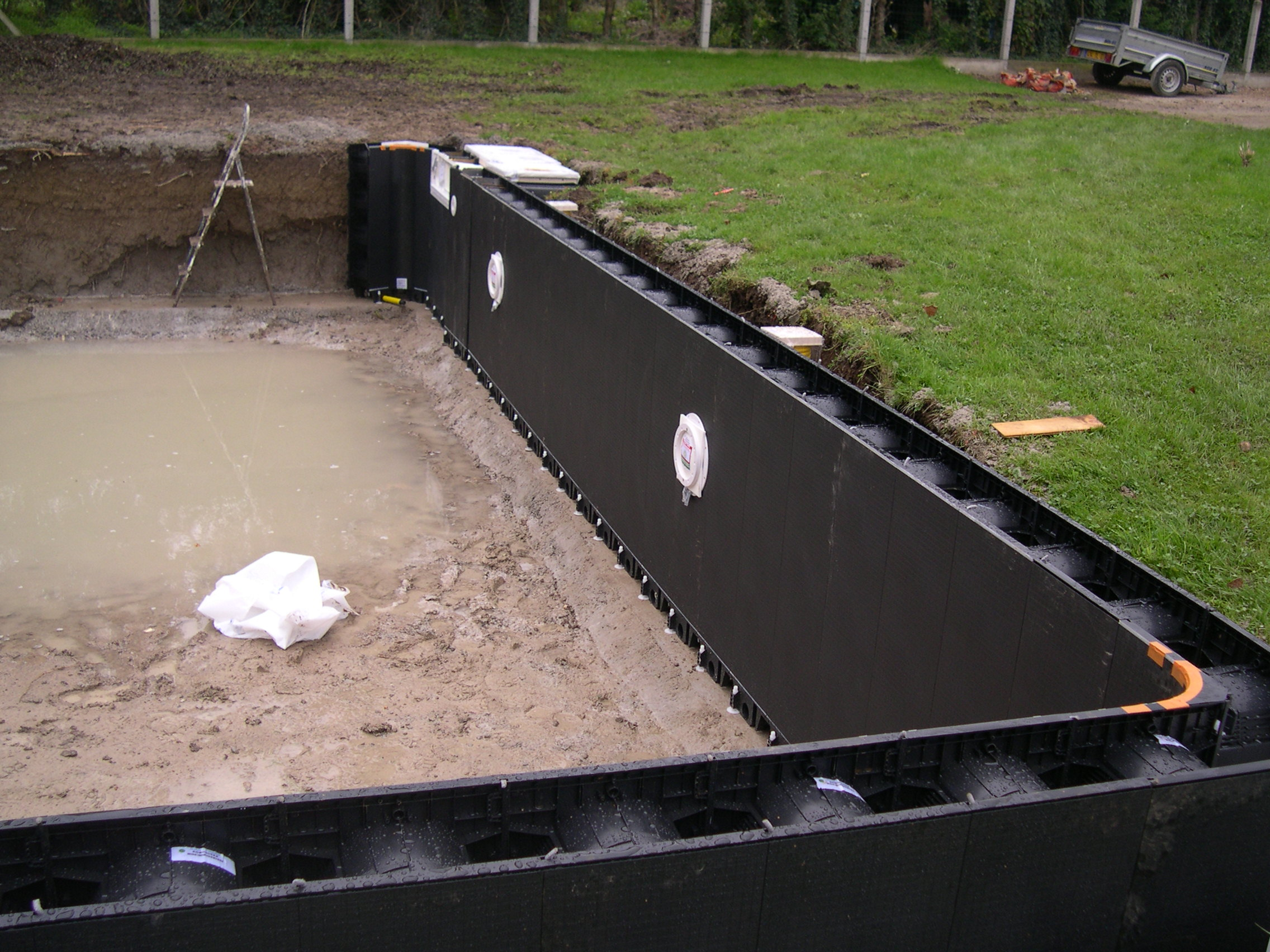 2010 Octobre Construction Piscine Magiline 9x