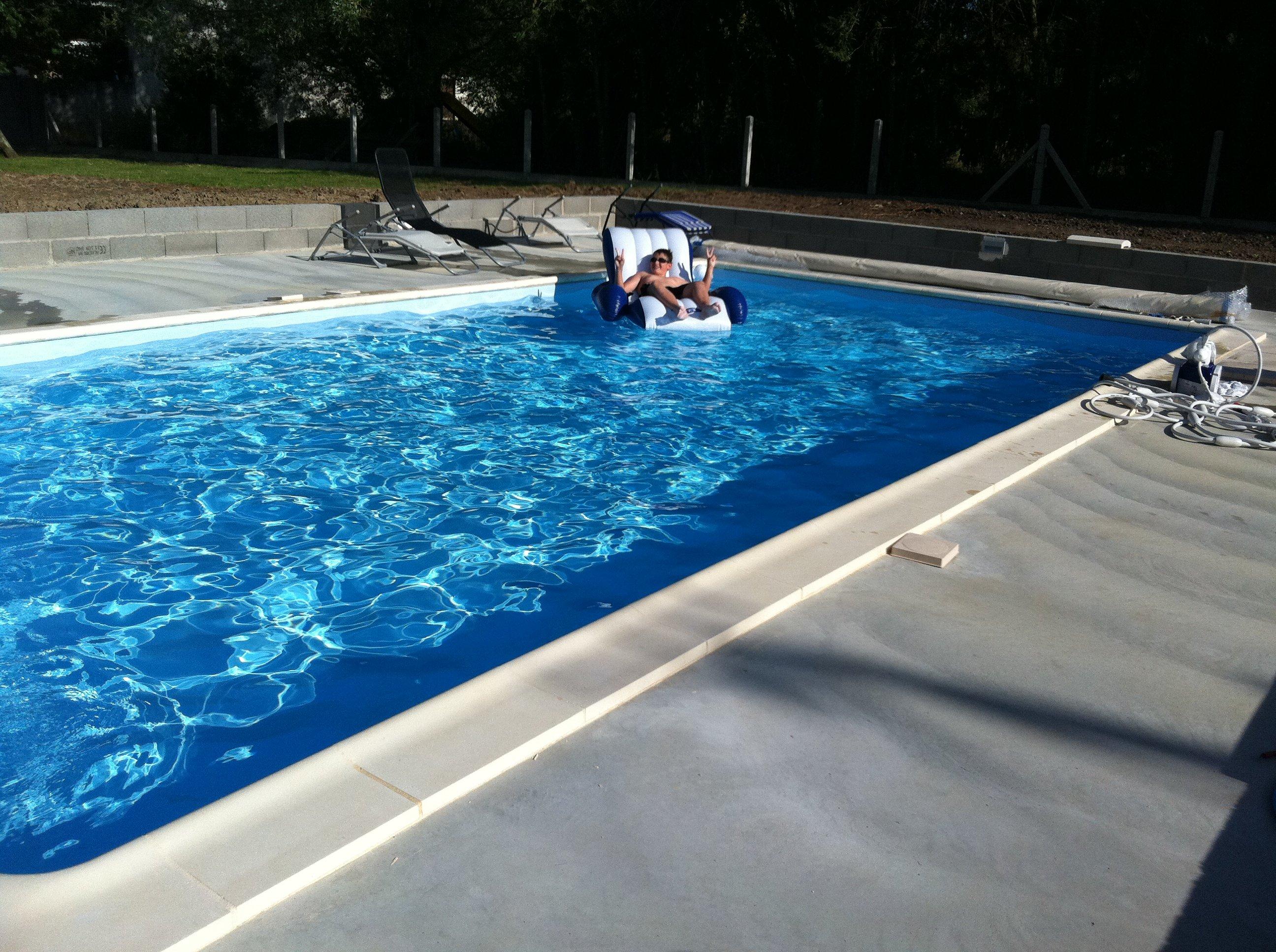 27 06 2011 mise en route de la filtration et 1ere baignade construction pis - Mise en route piscine ...